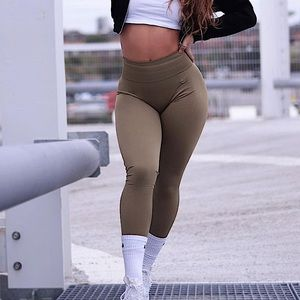 Lazuli Label Khaki Seamless Leggings